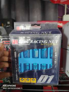 Baut racing roda D1 spec biru readystock