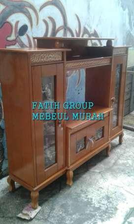 lemari tv model jerapah dan diamon bahan paten kayu sap antar