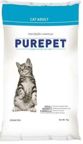 Purepet 7kg Ocean Fish dry cat food.