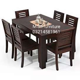 Elegant Solid Dining table for six person code D 07