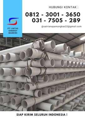 PIPA PARALON PVC PUTIH UKURAN 1/2 INCH - 20 INCH READY