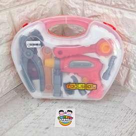 Tool Box Mainan Alat Pertukangan