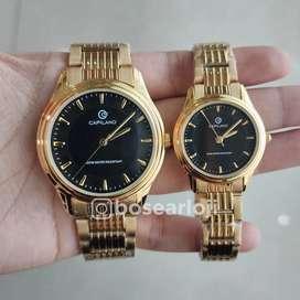 Jam Tangan Capilano 0967 Gold Dial Black