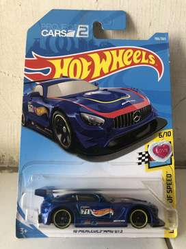 Hotwheels Mercedes GTR Blue 1