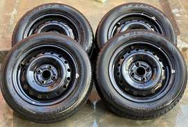 DUNLOP tyres with genuine japanese rims,16 rim size and 165 tyre size
