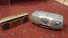 Sony and Fisher radio set for sale.