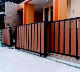 Pagar GRC motif kayu as535