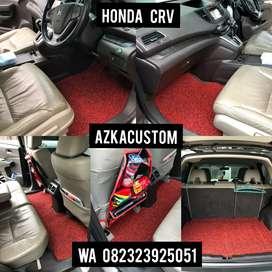 Karpet Mobil Honda CRV Baris 2 Bahan 2 Warna -Karpet Mie