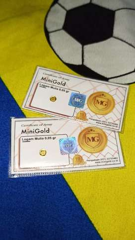 MiniGold koin emas dengan ukuran mini