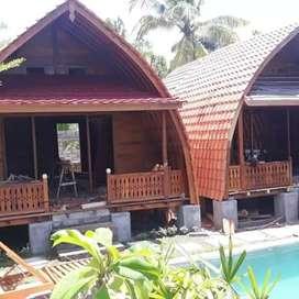 Rumah kayu vila