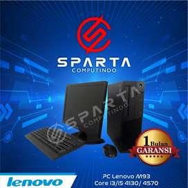 Paket Pc lenovo core i3 4130 lengkap lcd murah