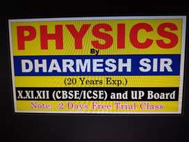 Online Physics Classes for class 11 and 12, CBSE and UP Board