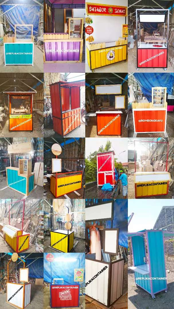 Replika container kontainer semi container kontainer Rombong  booth