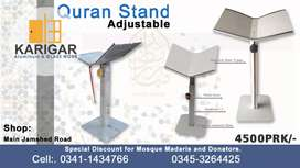Quran/book adjustable stand/Rail