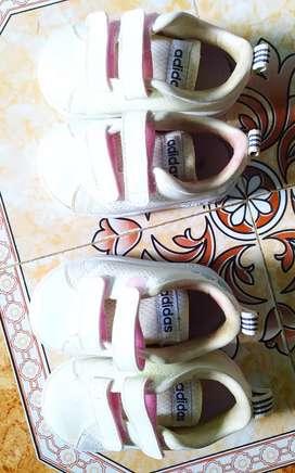 Original ADIDAS Baby Strap Tennis Shoes