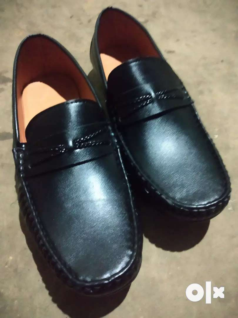 Black leather Loofer shoes 0