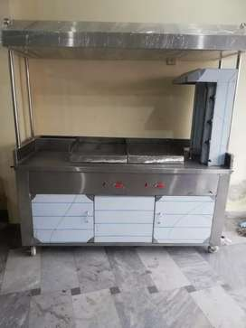 Shawarma Counter with 2 Hot plate