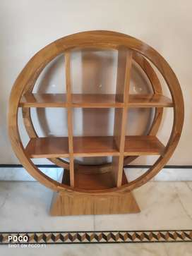 Ancient Collection Wooden Curved Shelf