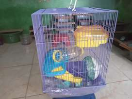 Kandang hamster 3 tingkat full set
