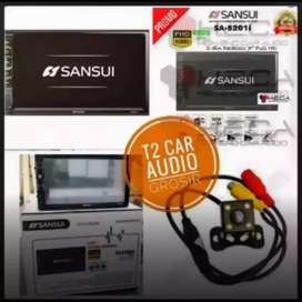 SANSUI 2DIN deckless android link 7inc mumer+camera hd Monggo merapat