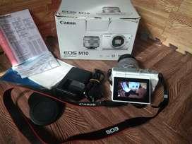Kamera Canon M10 EFS 15-45mm Masih oke jarang pakai..