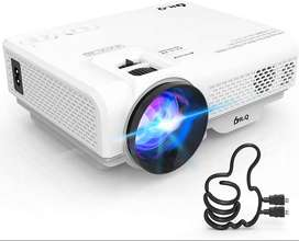 DR.Q Projector, Mini Projector 4500 Lumen, Video Projector Supports 10