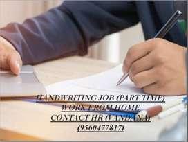 HANDWRITING JOB-PART TIME WORK