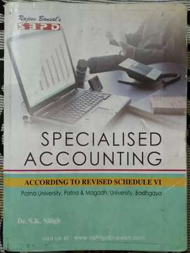 Specialised Accounting Account Book BCOM Part 2 SK Singh