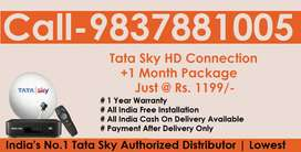 అత్యల్ప ధర Tata Sky HD Connection- Airtel DTH Dish Tatasky D2H