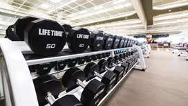 Gym dumbells lifetime fitness