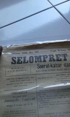 Koran tempo doeloe selompret melajoe tahun 1893