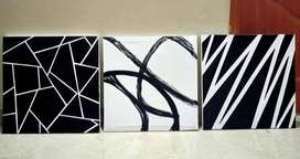 3 pair abstract painting