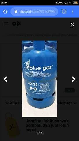 Tabung Blue Gas 5,5Kg Free isi (kondisi Segel)