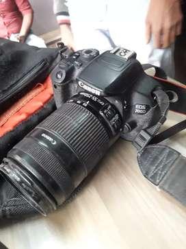 Canon 700d singel lens 55-250