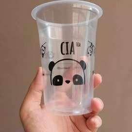 Gelas cup PP 15oz & CETAK LOGO