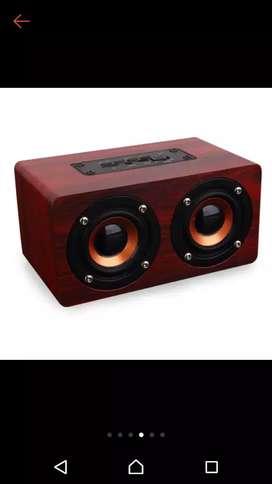 Speaker kayu mini suara jernih bass ok