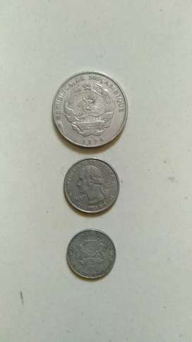 Old ancient foreign country coins