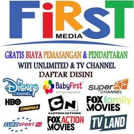 FIRST MEDIA PROMO TERBARU FREE PASANG BONUS TV CABLE
