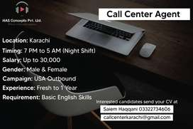Call Center Agent (Night Shift)