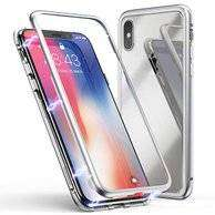 New arrival Case Magnetic2in1 glassTransparan iPhone Xs/X super Mewah