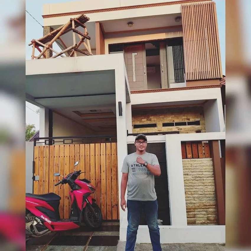 Jasa bangun rumah modern minimalis tropis Candipuro