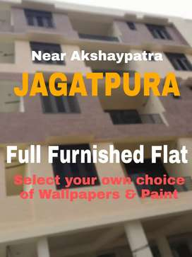 2 bhk flat 2 balcony Fully Furnished Near Akshaypatra Jagatpura