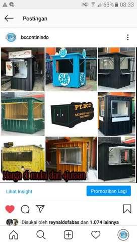 Booth semi container/booth stand makanan dan minuman
