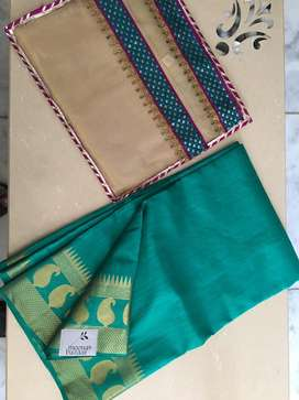 Banarasi Silk Saree. Brand New from Meena Bazar with gift Bag.