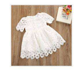Dress Gaun Baju Bayi Baby Putih White Ukuran S