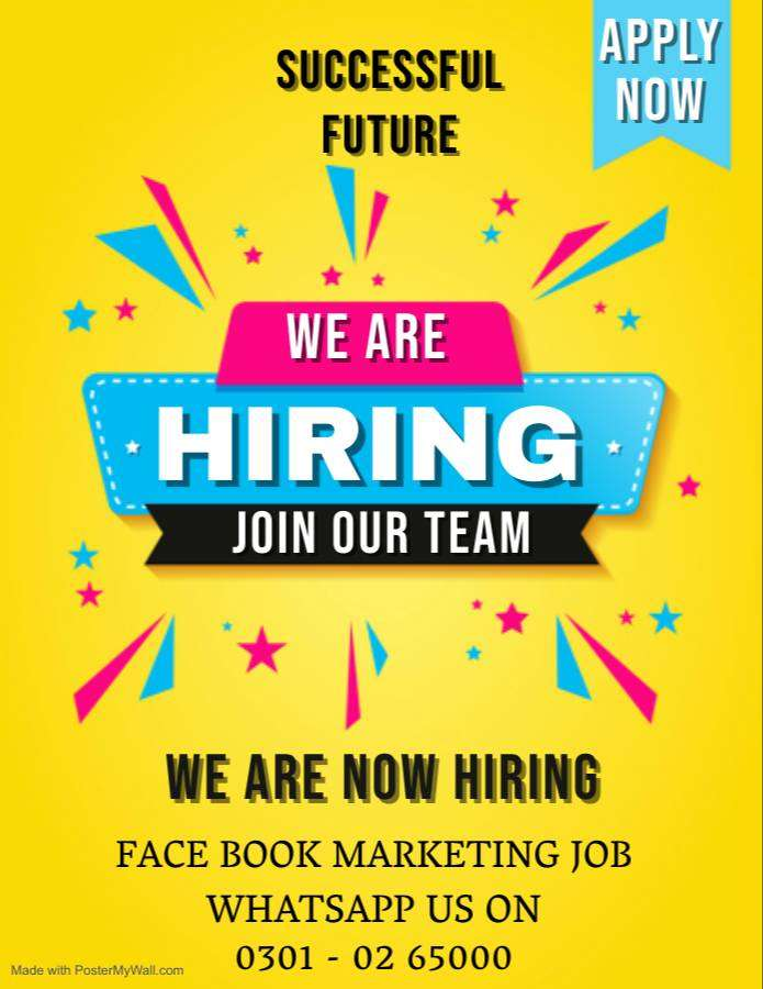 Face book marketing work available in pak for all apply now and earn