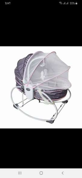 Cot bassinet + rocker and swing