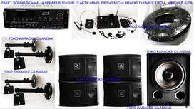 paket sound dapat 4 speaker