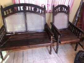 2+1+1 rose wood sofa and kambha study table