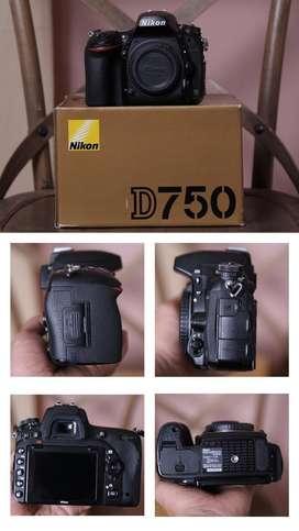 nikon d750 non wifi sc 128000 kondisi 92%
